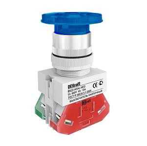 ВК22-AEAL-BLU-NEO кнопочный выключатель Dekraft