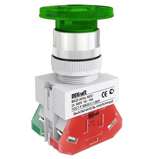 ВК22-AEAL-GRN-NEO кнопочный выключатель Dekraft