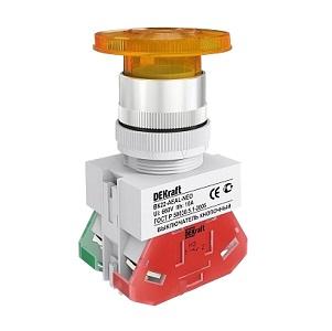 ВК22-AEAL-YEL-NEO кнопочный выключатель Dekraft