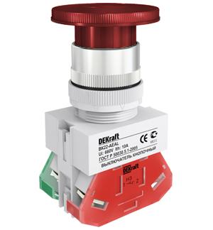 ВК22-AEAL-RED кнопочный выключатель Dekraft