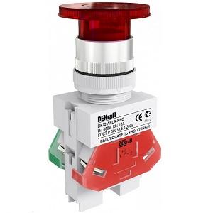 ВК22-AELA-RED-NEO  кнопочный выключатель Dekraft