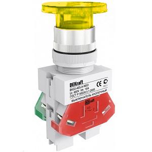 ВК22-AELA-YEL-NEO  кнопочный выключатель Dekraft