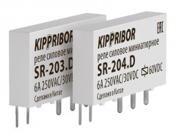 SR-203.D интерфейсные промежуточные реле KIPPRIBOR в ультратонком корпусе серии SR