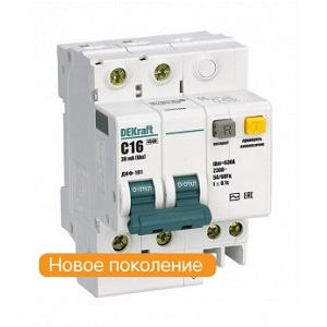 Диф. автомат 2Р 6А 30мА тип AC х-ка С ДИФ-101 4,5кА DEKraft