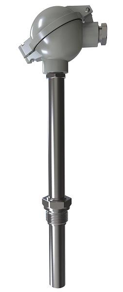 ДТПК(L)275 до 800°С 60–200 мм термопара на основе КТМС с металлической коммутационной головкой (хх5) ОВЕН