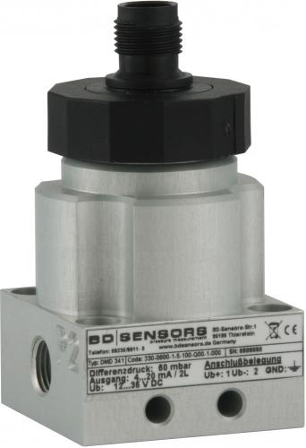 DMD 341 Компактный датчик перепада давления (разности давлений) с двумя пьезорезистивными кремниевыми сенсорами