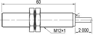 LA12-60.2A1.U7.K индуктивный выключатель Kippribor