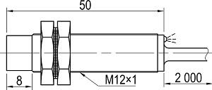 LA12M-50.4N1.U1.K индуктивный датчик Kippribor