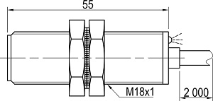 LA18-55.5N1.U1.K индуктивные датчики Kippribor