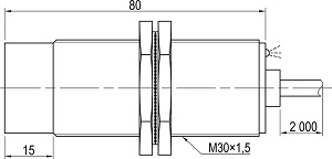 LA30M-80.15A1.U7.K индуктивные датчики Kippribor