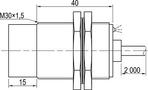 LA30M-55.15N1.U1.K индуктивные датчики Kippribor
