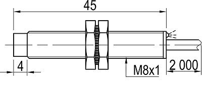 LA08M-45.2N1.U1.K индуктивные датчики Kippribor