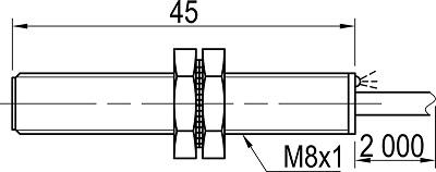 LA08-45.1N1.U1.K индуктивный датчик Kippribor