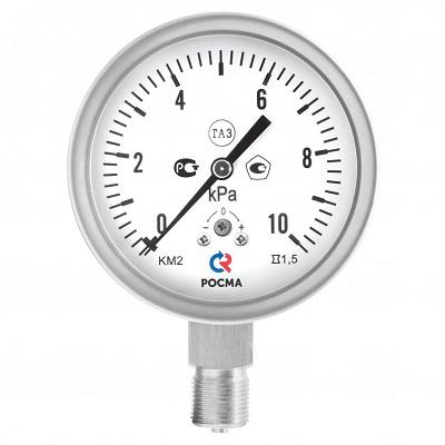 КМ-22 Кс Р IP54 Росма коррозионностойкие манометры для измерения низких давлений газов