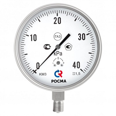 КМ-32 Кс Р IP54 Росма коррозионностойкие манометры для измерения низких давлений газов