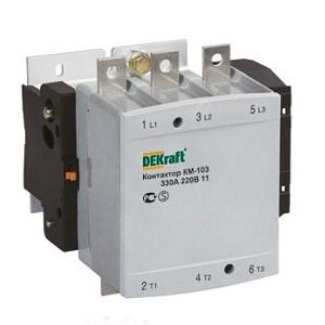 КМ103-115А-220В-11 контакторы Dekraft