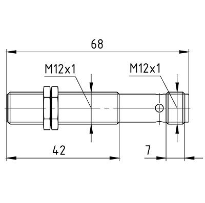 LA12-68.2N1.U1.E, LA12-68.2N2.U1.E, LA12-68.2N4.U1.E, LA12-68.2P1.U1.E, LA12-68.2P2.U1.E, LA12-68.2P4.U1.E, LA12-68.2D1.U4.E, LA12-68.2D2.U4.E индуктивные датчики в утапливаемом исполнении