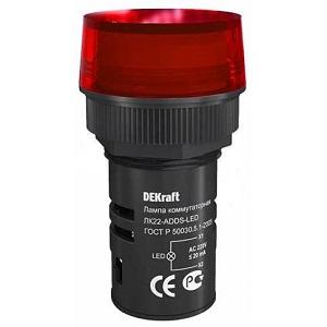 ЛК22-ADDS-RED-LED лампы коммутационные Dekraft