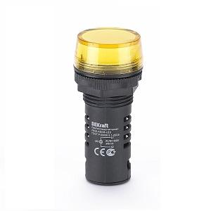 ЛК22-ADDS-YEL-LED лампы коммутационные Dekraft