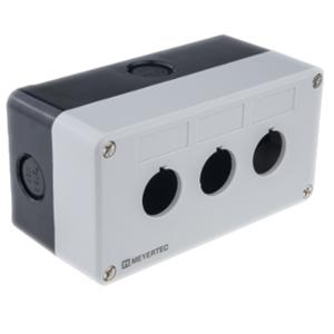 MTB2-PE3 Meyertec пластиковый корпус на три кнопки серого цвета