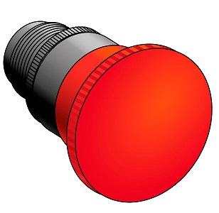 Головка кнопки с грибовидным толкателем Meyertec