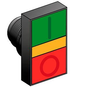 MTB2-EW84 головка кнопки управления с двойным толкателем и подсветкой Meyertec