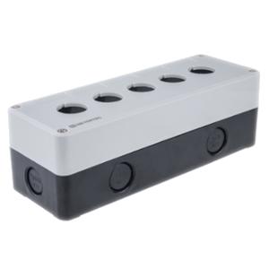 MTB2-PE5 Meyertec корпус пластиковый  серого цвета на пять кнопок