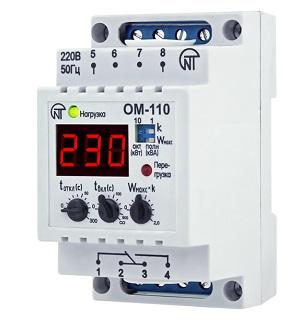 ОМ-110-01 реле ограничения мощности Новатек-Электро