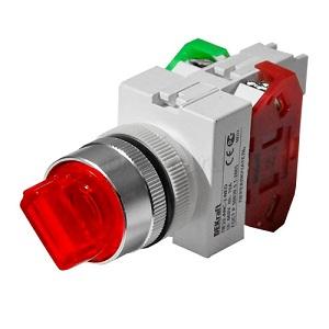 ПЕ22-ANC-2-RED-NEO переключатель со стандартной ручкой и неоновой лампой Dekraft