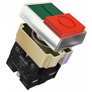 ПЕ22-BL двойной кнопочный выключатель Dekraft