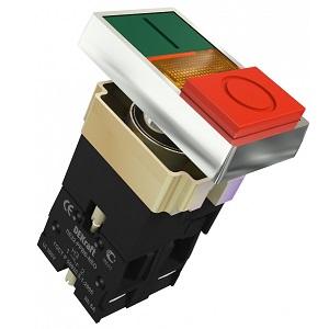 ПЕ22-PPBB-NEO двойной кнопочный выключатель Dekraft