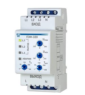 НОВИНКА! ПЭФ-320 электронный переключатель фаз Новатек-Электро