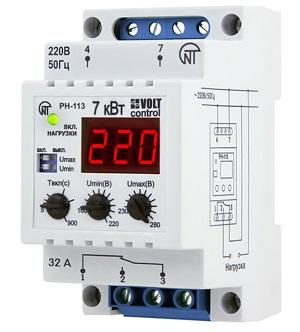Однофазное реле напряжения РН-113 Новатек-Электро