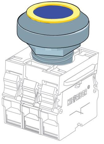 OR-Y декоративная вставка для головок толкателей, желтая Kipprobor