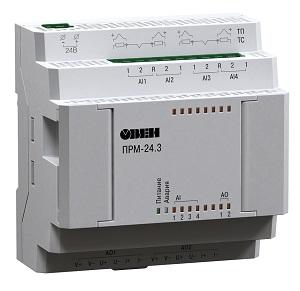 ПРМ-24.3 ОВЕН модуль расширения, 24VDC, 4xAI, 2xAO(И/У)