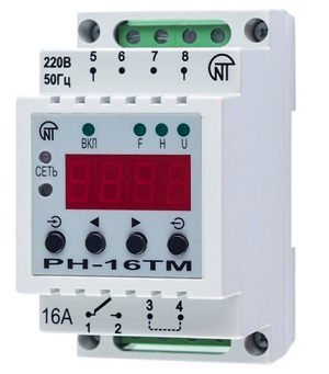 РН-16ТМ суточно-недельный  таймер с функцией  реле напряжения Новатек-Электро