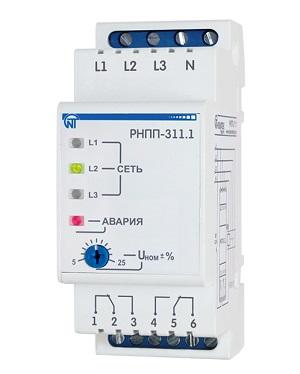НОВИНКА! РНПП-311.1 реле напряжения, перекоса и последовательности фаз Новатек-Электро