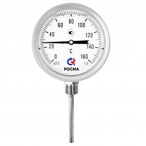 БТ-52.220 Силикон коррозионностойкий термометр с возможностью гидрозаполнения силиконом (радиальное присоединение, L=64) РОСМА НОВИНКА