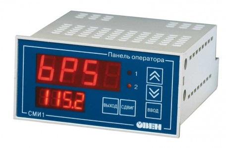 СМИ1-24 и СМИ1-220 ОВЕН панели оператора индикации данных с функциями редактирования для распределенных систем управления в сети RS-485 и RS-232