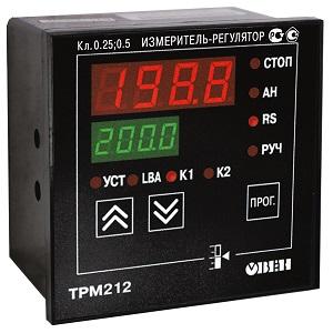 ТРМ212 ОВЕН измеритель ПИД-регулятор для управления задвижками и трехходовыми клапанами с интерфейсом RS-485