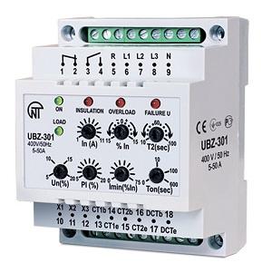 УБЗ-301 5-50A универсальный блок защиты электродвигателей УБЗ-301 Новатек-Электро