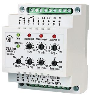 УБЗ-301 63-630A универсальный блок защиты электродвигателей УБЗ-301 Новатек-Электро