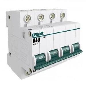 ВА101-4P-001A-B автоматический выключатель ВА-101 Dekraft