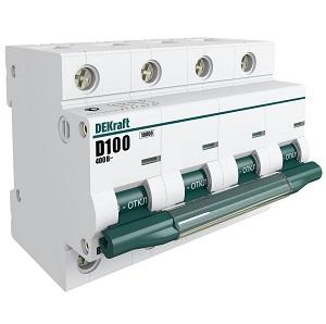ВА201-4P-063A-C автоматический выключатель Dekraft