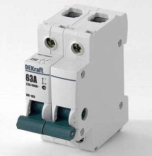 ВН103-2P-020A выключатель нагрузки Dekraft