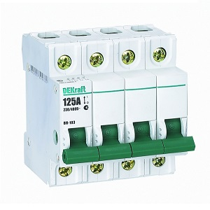 ВН103-4P-020A выключатель нагрузки Dekraft