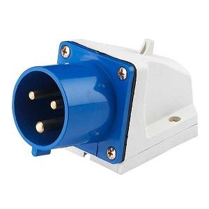 ВС102-3-16-IP44 2P+PE стационарная вилка Dekraft