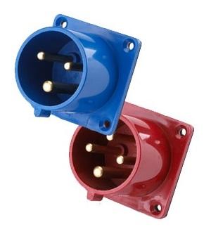ВЩ102-3-16-IP44 2P+PE вилка для скрытой проводки Dekraft