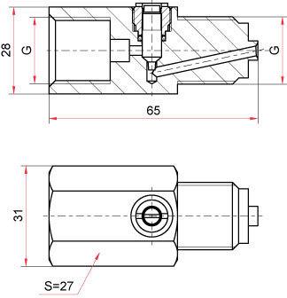 Демпферное устройство с регулировочной иглой