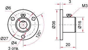 Латунный фланец для биметаллических термометров
